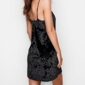 Victoria's Secret Dresses - Victoria's Secret Crushed Velvet Black Dress NWT